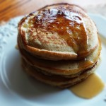 Low-fat Eggnog Pancakes