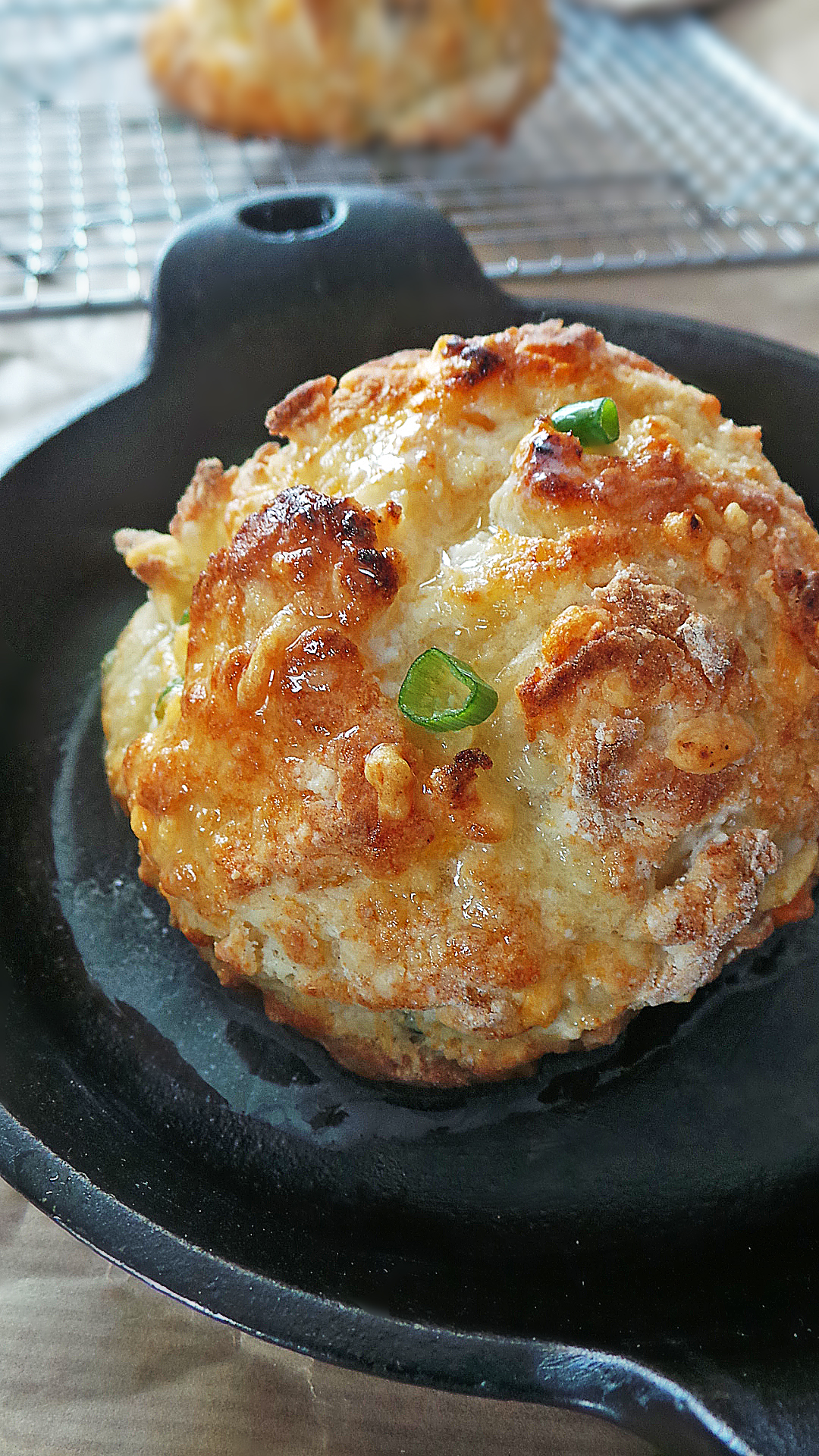 Big and beautiful cheddar biscuits with a fun surprise inside!