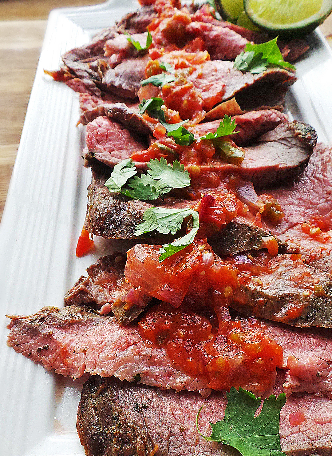 Grilled Carne Asada & Smoky Fresh Salsa