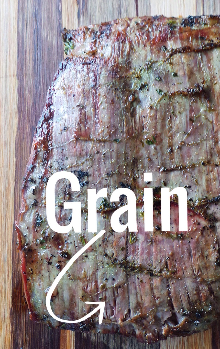 Always cut AGAINST the grain, it'll cut through the chewy fibers and you're meat will be nice and tender!