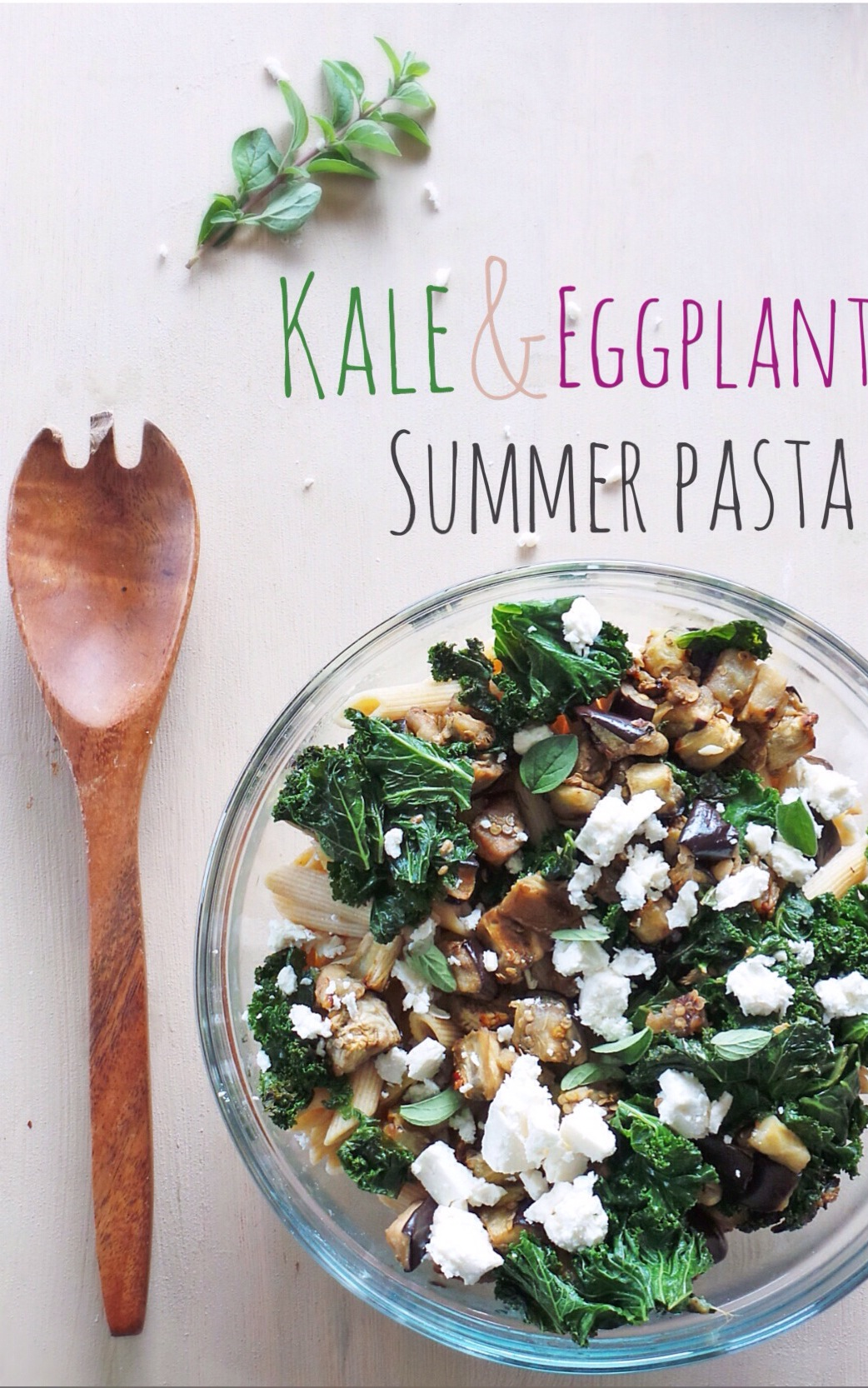 Kale & Eggplant Summer Pasta @ Vodka & Biscuits