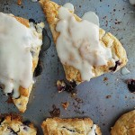 Flaky Blueberry Scones w. Vanilla Infused Glaze