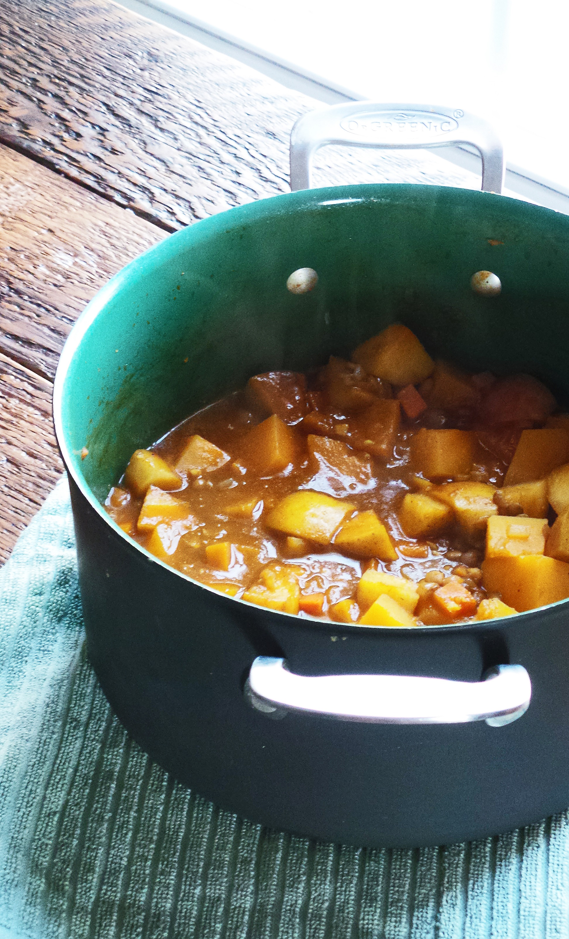 Curried Butternut Squash & Lentil Stew