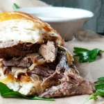 (CWC) Slow Cooked French Dip Sandwiches