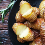 Mini Rosemary Hassleback Potatoes