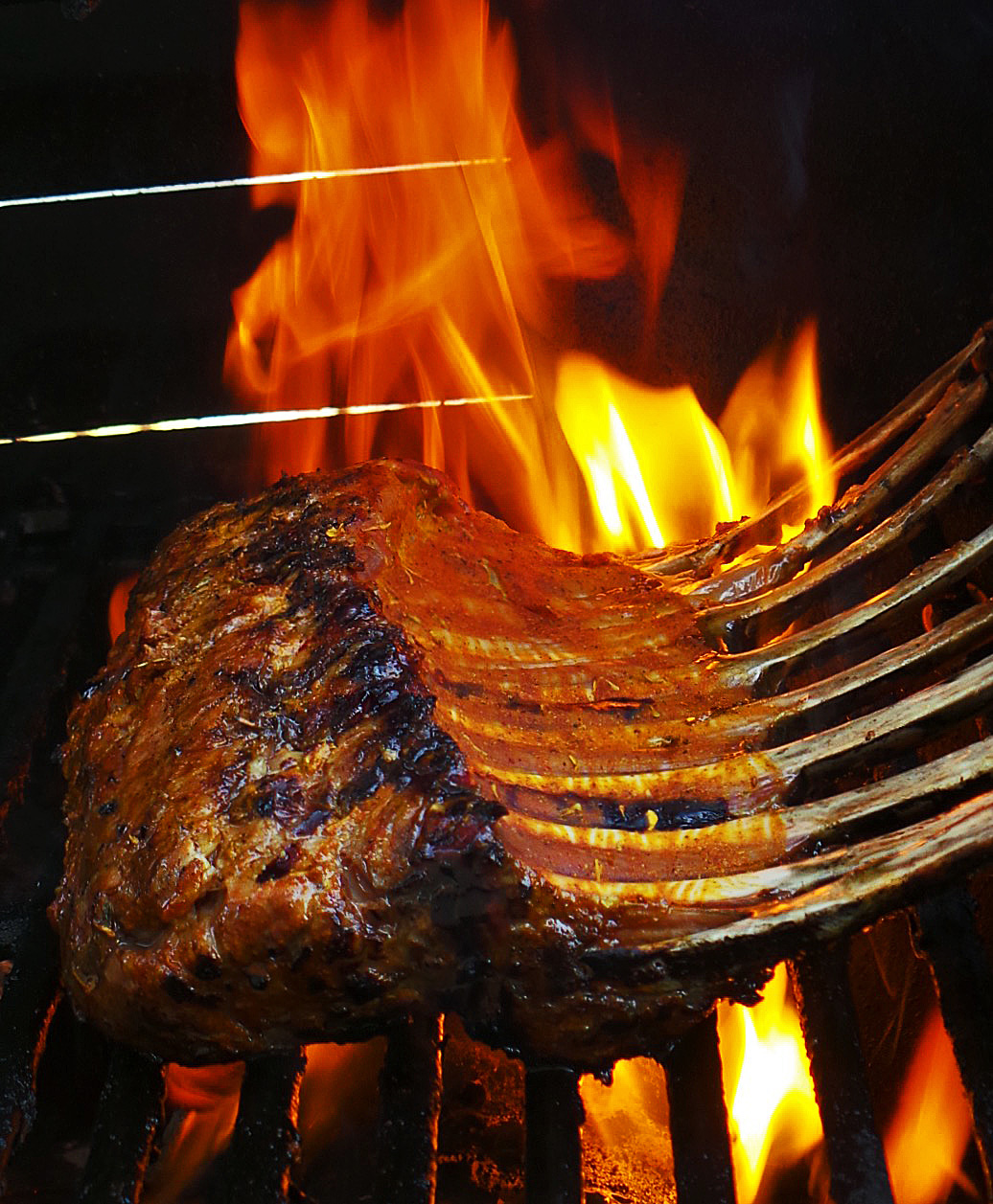 Spiced Grilled Rack of Lamb
