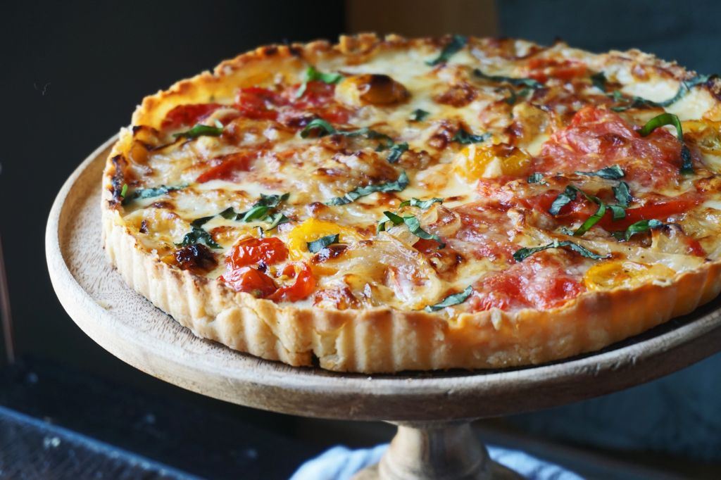 Beefsteak Tomato Tart with Caramelized Onions & Thyme