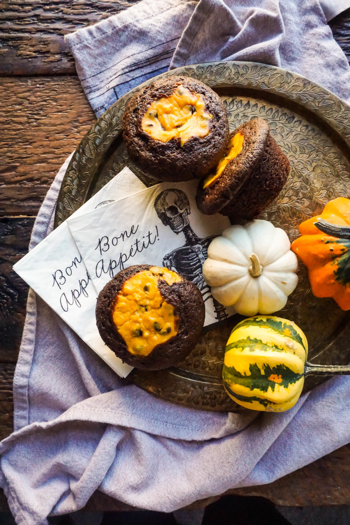Fall Harvest Black Bottom Cupcakes