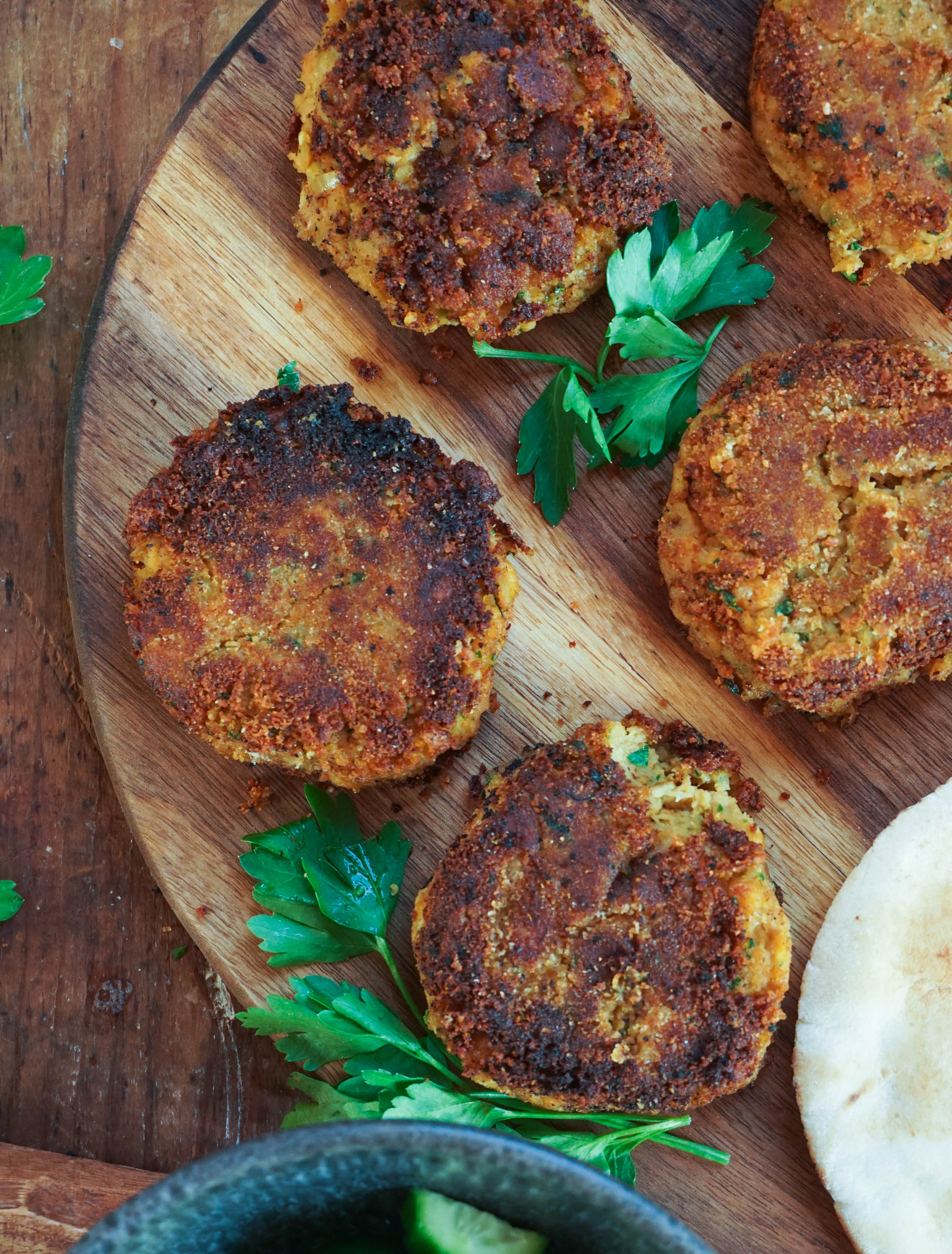 Vegan Sweet Potato Falafel Cakes