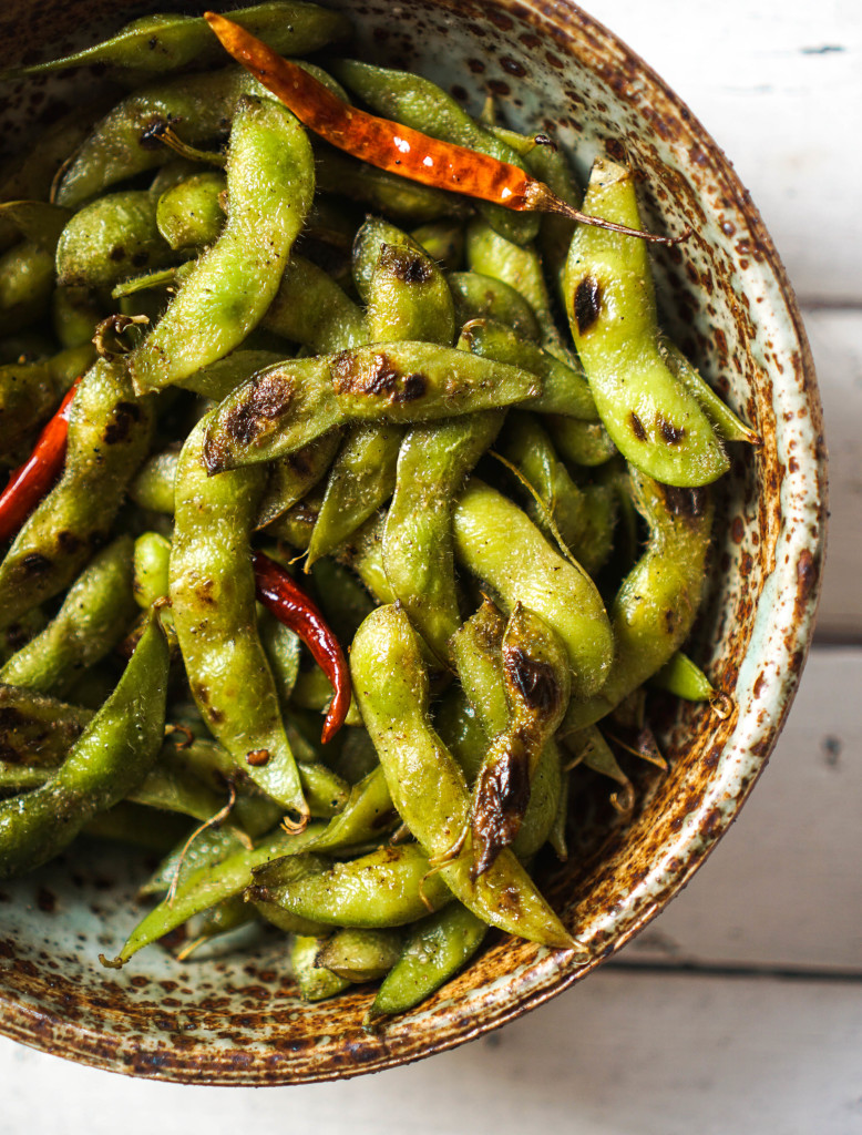 Blistered Edamame with Chili & Garlic