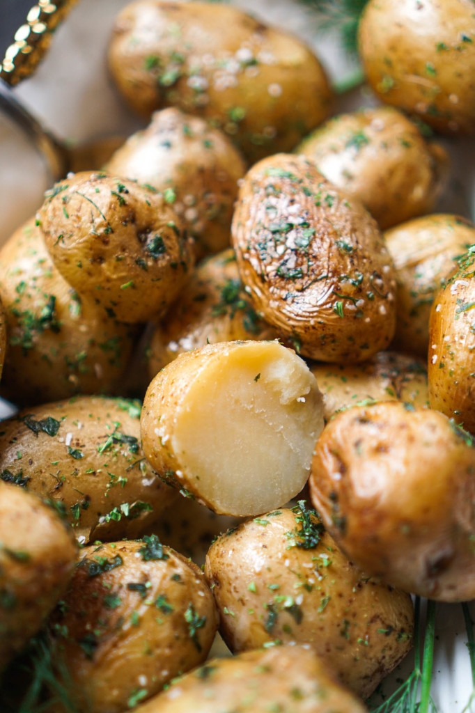 Dutch Oven Herbed Potatoes (No Peel, No Boil, No Bake!)