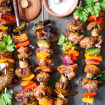 Marinated & Grilled Lamb (or steak) Shish Kabobs