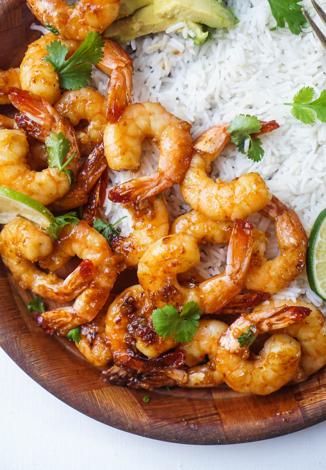 Caramelized Honey Lime & Garlic Shrimp -