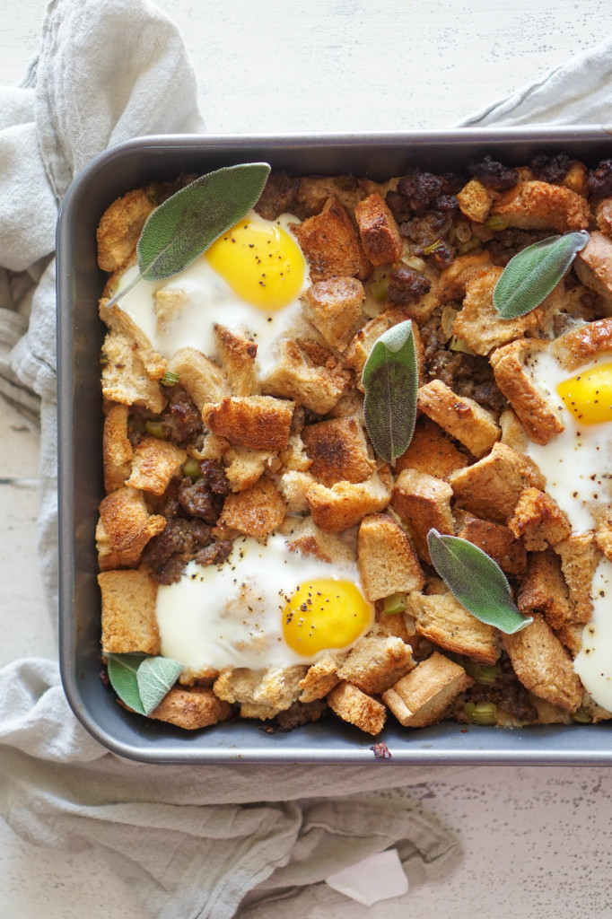 Maple Breakfast Stuffing with Sausage