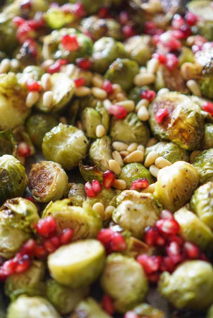 Roasted Brussels Sprouts with Pomegranate