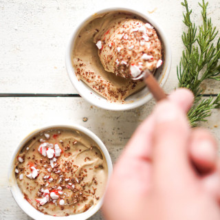 Ricotta Cappuccino Whip with Peppermint + Chocolate
