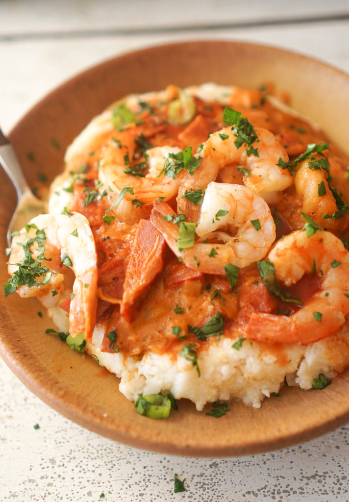 Shrimp & Grits with Spicy Capicola Gravy
