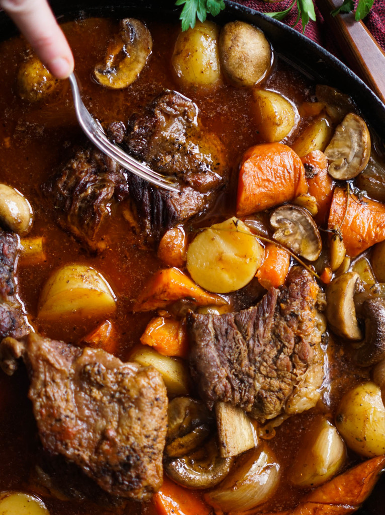 Skillet Beef Short Rib Pot Roast (Whole30)
