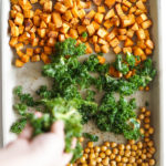 Sheet-Pan Za'atar Chickpeas & Kale with Sweet Potatoes