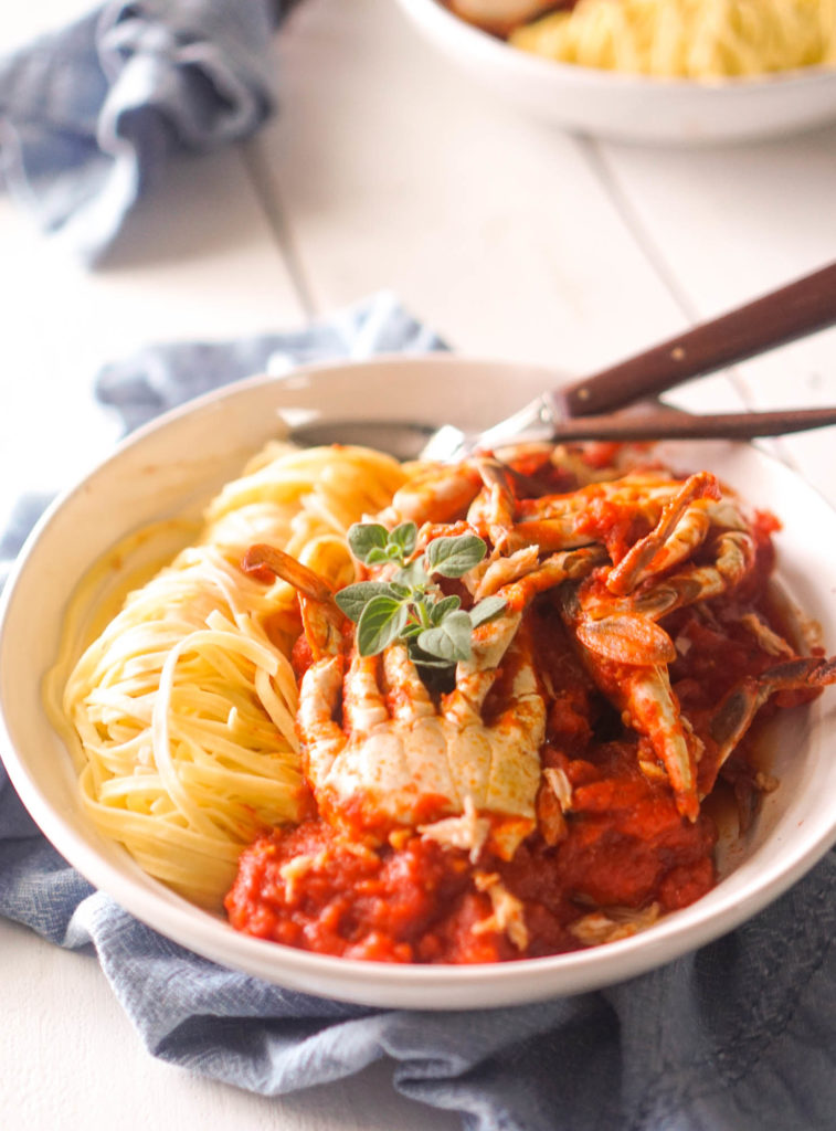 Jane S Spaghetti Crabs Great For Leftover Steamed Crabs