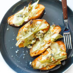 Sweet Potatoes with Buttery Leeks & Gorgonzola