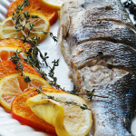Whole Roasted Citrus Infused Branzino