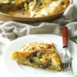 Potato Crusted Quiche with Asparagus & Mushrooms