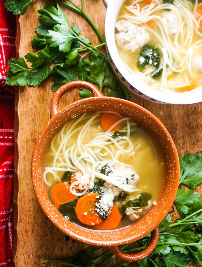 Feel-Good Turkey Meatball Soup
