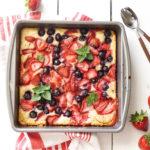 Summer Berry Cobbler Cake